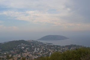 View from on top of the hills of Saronida