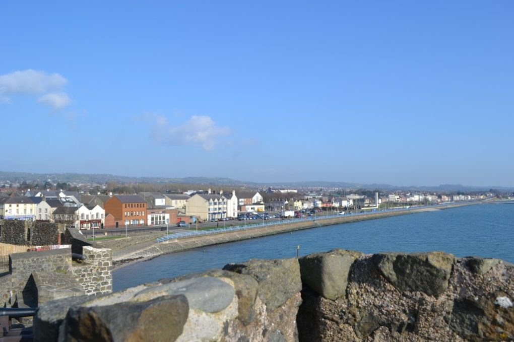 The Village of Carrickfergus from the Rock of Fergus