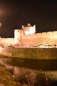 Cahir Castle across the moat