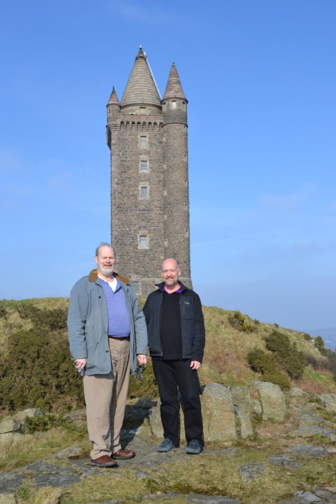 Jim and Chester at Scrabo Tower