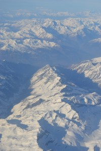 The Swiss Alps from above-0