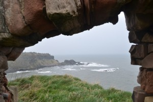 View to the North Sea from Tantallon ruins