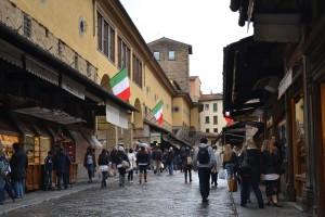 Crossing the Ponte Vecchio