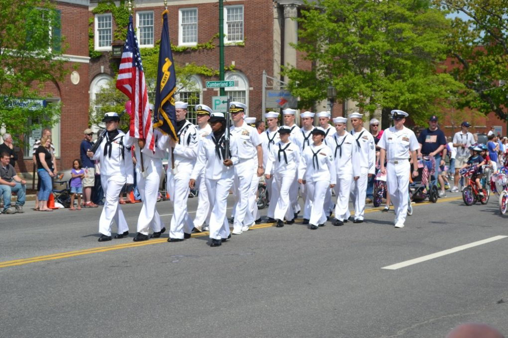 Soldiers Marching in The Brunswick Parade