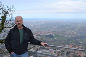 Jim on top of San Marino
