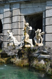 Aeolus Fountain with statues