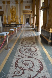 Ornate Marble Floor- And Endless Hallway